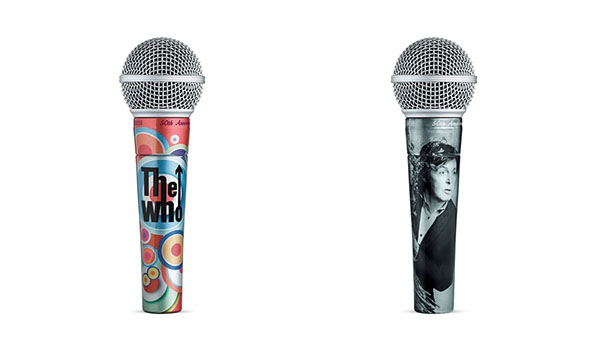 shure sm58 50th anniversary paul mccartney and the who